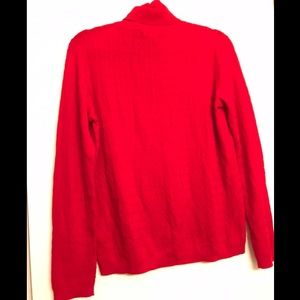 Pendleton Red Cable Knit Turtleneck size Large